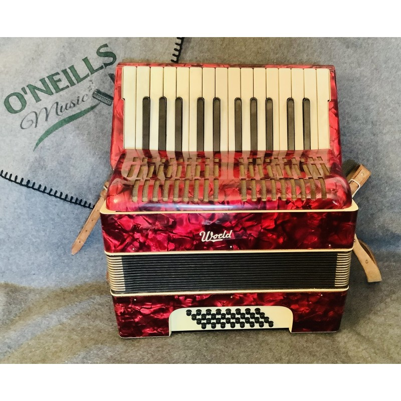 Worldmaster 26 key 12 Bass Piano Accordion Used