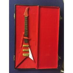 Model Guitar Gift - Flying V Copy Red