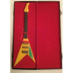 Model Guitar Gift - Flying V Copy Yellow