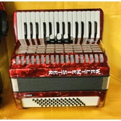 Weltmeister Rubin German Red 30 key 60 bass compact accordion used