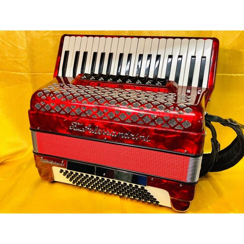 Fratelli Alessandrini 37/96 bass 4 Voice Scottish Musette Piano Accordion Used