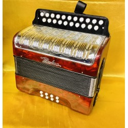 Mudan 2 voice A/D Button Accordion Used