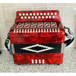 Button Accordion B/C 21 Buttons 2 voice Irish Style