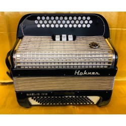 Hohner Gaelic IV 3 Row B/C/C sharp Accordion 37/96 bass Used