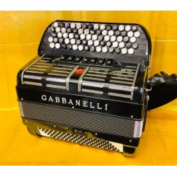 Gabbanelli 5 Row 72/96 bass 3 Voice Sottish Musette Chromatic Accordion with mics Used