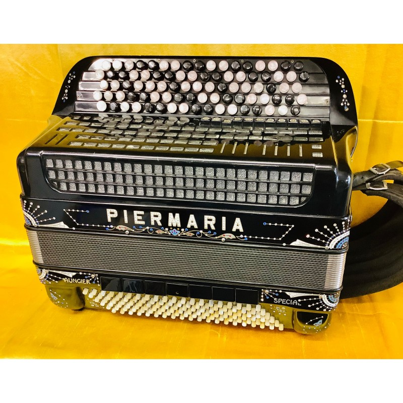 Piermaria Midi 5 Row C Scale Chromatic Accordion 4 Musette 41/120 Bass Full decor Used