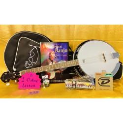 Summer Bundle Koda Tenor Banjo with bag and more