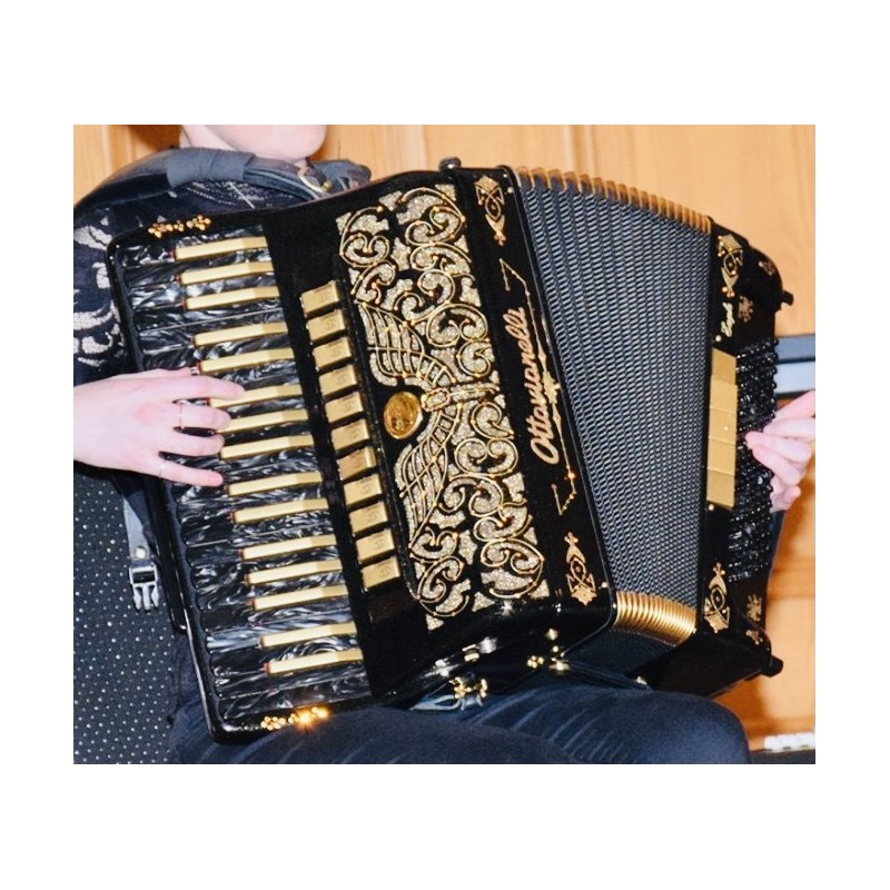 Ottavianelli Eagle Gold Midi Custom Built 4 Voice Musette Double Cassotto Piano Accordion 37/96