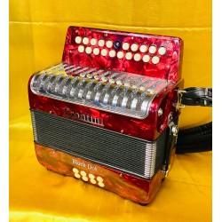 Frontini Black Dot B/C 2 voice Irish Style Button Accordion Used