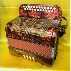 Hohner B/C Amatona III 3 voice musette button accordion Used