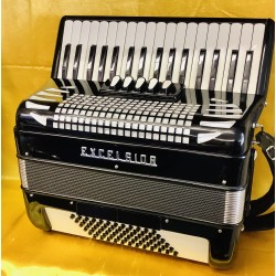 Excelsior 72 Bass bass 3 voice Piano Accordion Used