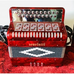 Scarlatti B/C Deluxe 2 voice Button Accordion Used