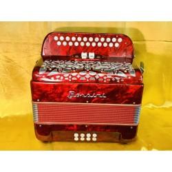 Borsini Midi C/C# 4 voice musette accordion Used