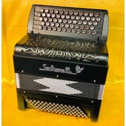 Saltarelle Midi &Mics Custom Made Agapanthe C scale 5 Row  Chromatic 62 Button 78 Bass Accordion