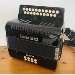 Scarlatti Nero D/G 2 Voice Button Accordion Used