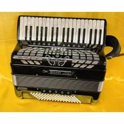 Bugari Championfisa 37 Key 96 Bass Midi 4 Voice Compact Piano Accordion Used