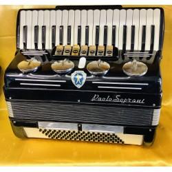 Paolo Soprani 1950s Blue Badge 37 Key 80 Bass 3 Voice Piano Accordion Used